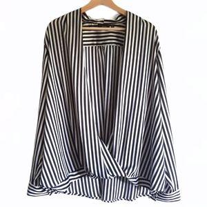 Apt 9. Black & White Stripes Blouse